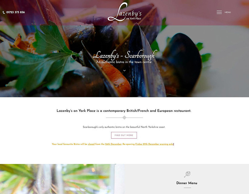 The Lazenby's website created by it'seeze Scarborough