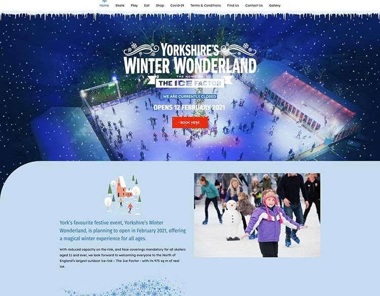 The Yorkshire Winter Wonderland website created by it'seeze Scarborough